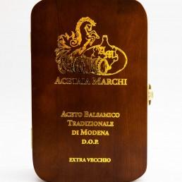 Scatola pregiata in legno - Aceto Balsamico Tradizionale di Modena D.O.P. Extravecchio