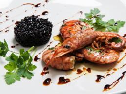 crevettes au vinaigre-marchi-préparation-balsamique-vinaigre
