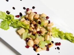 vinaigre-marchi-préparation-salade balsamique-vinaigre
