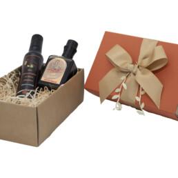 elegante Verpackung mit Balsamico-Essig aus Modena-i-g-p-bronze-extra-nativem Olivenöl